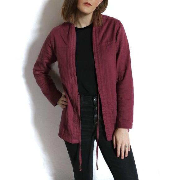AKASHI-KAMA Jackets & Blazers - AKASHI-KAMA Kimono Jacket In Plum